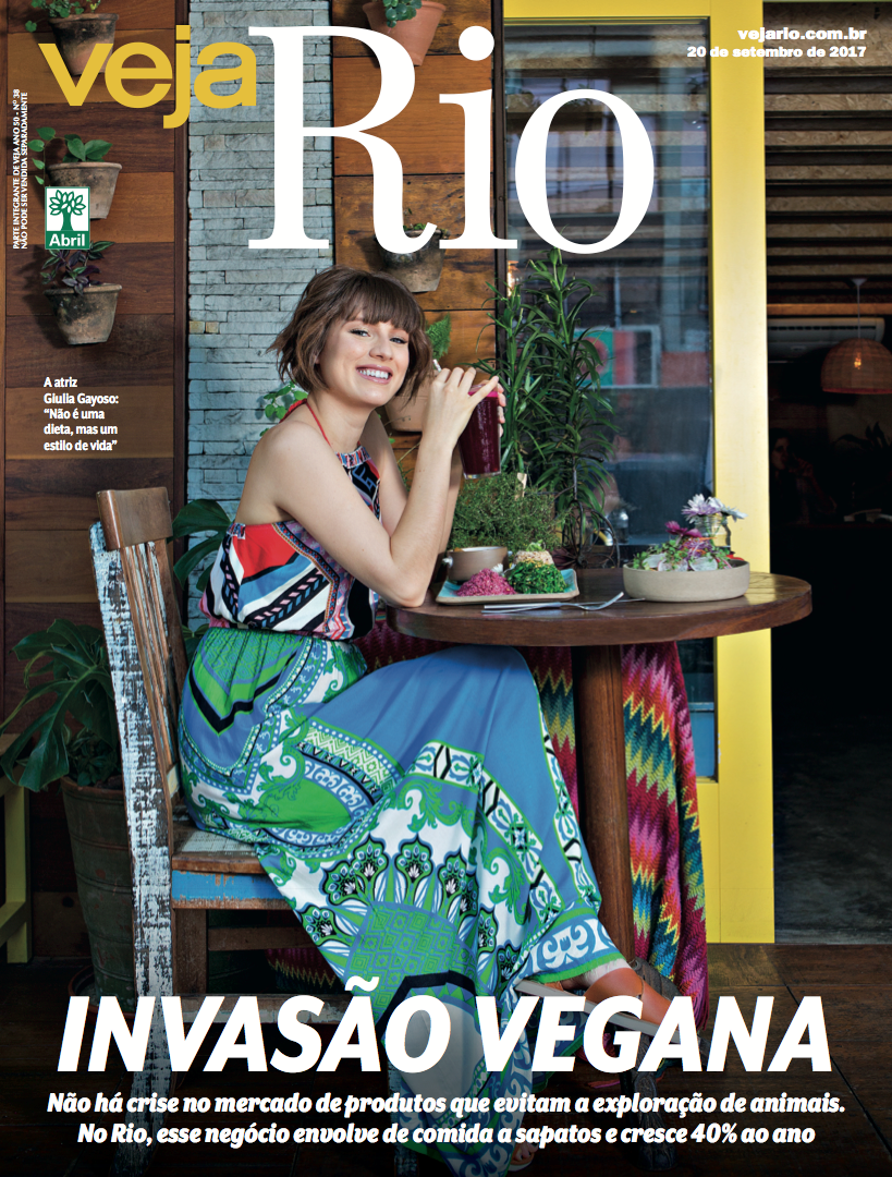"""Veja Rio destaca o Açougue Vegano na matéria de capa """"Invasão Vegana"""""""